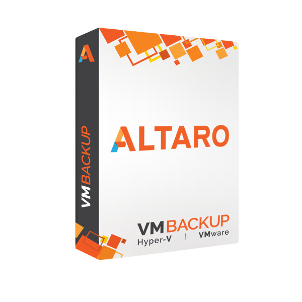Picture of Altaro VM Backup for Mixed Environments - Upgrade to latest version - Standard Edition with 1-yr SMA